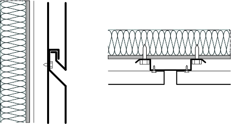 Przekrój pionowy i poziomy kasetonu elewacyjnego